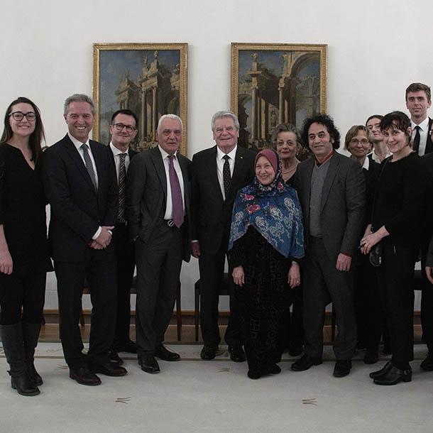VAP beim Bundespräsidenten Joachim Gauck im Schloss Bellevue 2014, Foto: Emilio Esbardo