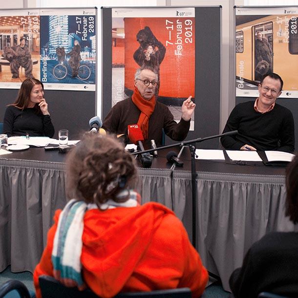 VAP-Gespräch mit Dieter Kosslick, Direktor der Internationalen Filmfestspiele Berlin von 2001-2019, Foto: Emilio Esbardo