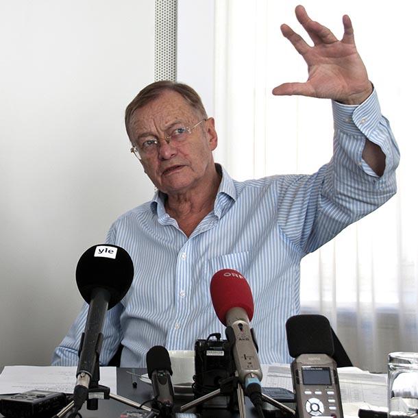 Prof. Hajo Funke, Politikwissenschaftler, Foto: Emilio Esbardo