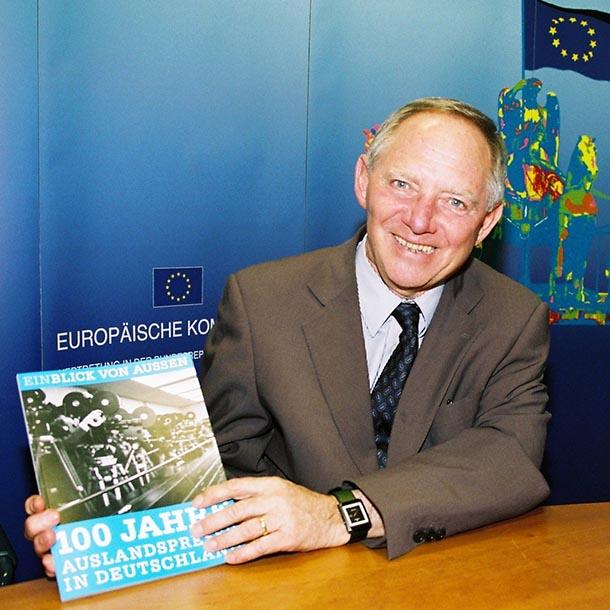 Wolfgang Schäuble 2006, Bundesminister des Inneren 2005-2009, Foto: VAP-Büro