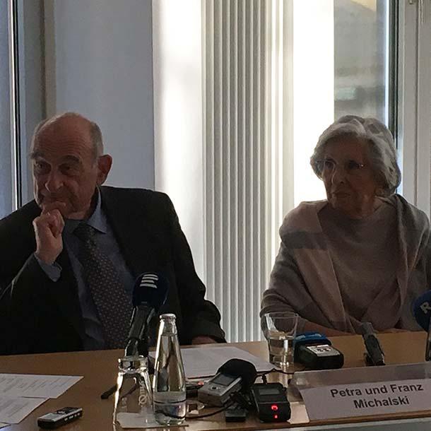 Petra und Franz Michalski, Shoa-Überlebende, 2020