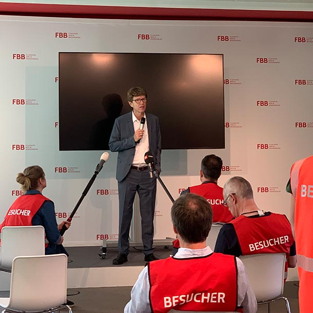 VAP-Gespräch mit Engelbert Lütke Daldrup, Geschäftsführer der Flughafengesellschaft Berlin-Brandenburg, Foto: Anja Kreienbring